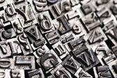Stile di tipografia — Foto Stock