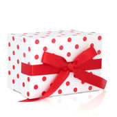 Polka Dot Gift Box — Stock Photo