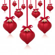 Red Heart Baubles — Stock Photo #3521906
