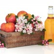 Cider, Apples and Flower Blossom — Stock Photo