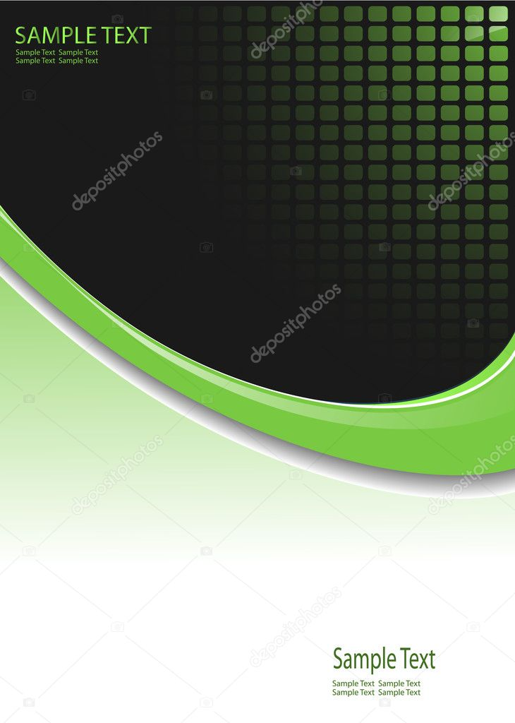 Business  background green with dotted pattern, vector. — Stock Vector #2742880