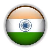 India flag button, vector — Stock Vector