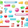 Web glossy elements collection — Stock Vector