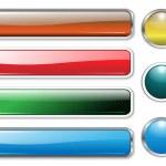 banner, impostare intestazioni multicolore — Vettoriale Stock
