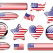 USA, North American flag buttons — Stock Vector #2813221