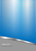 ビジネスの背景青とグレー — ストックベクタ