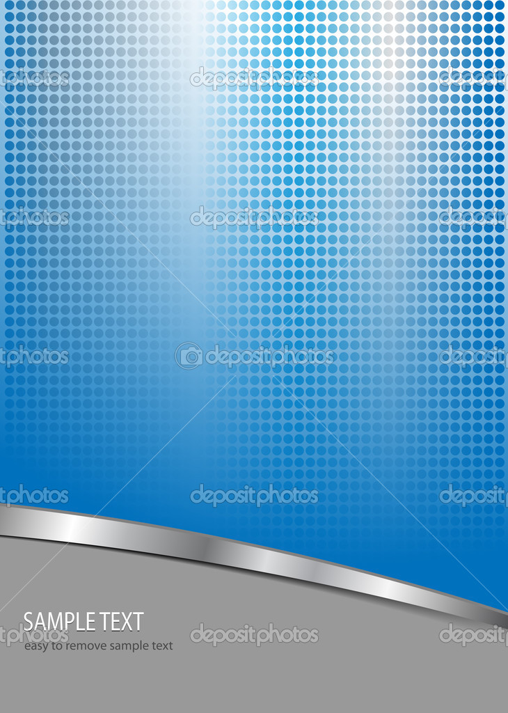 Business  background blue and grey with dotted pattern, vector. — Vettoriali Stock  #2881886