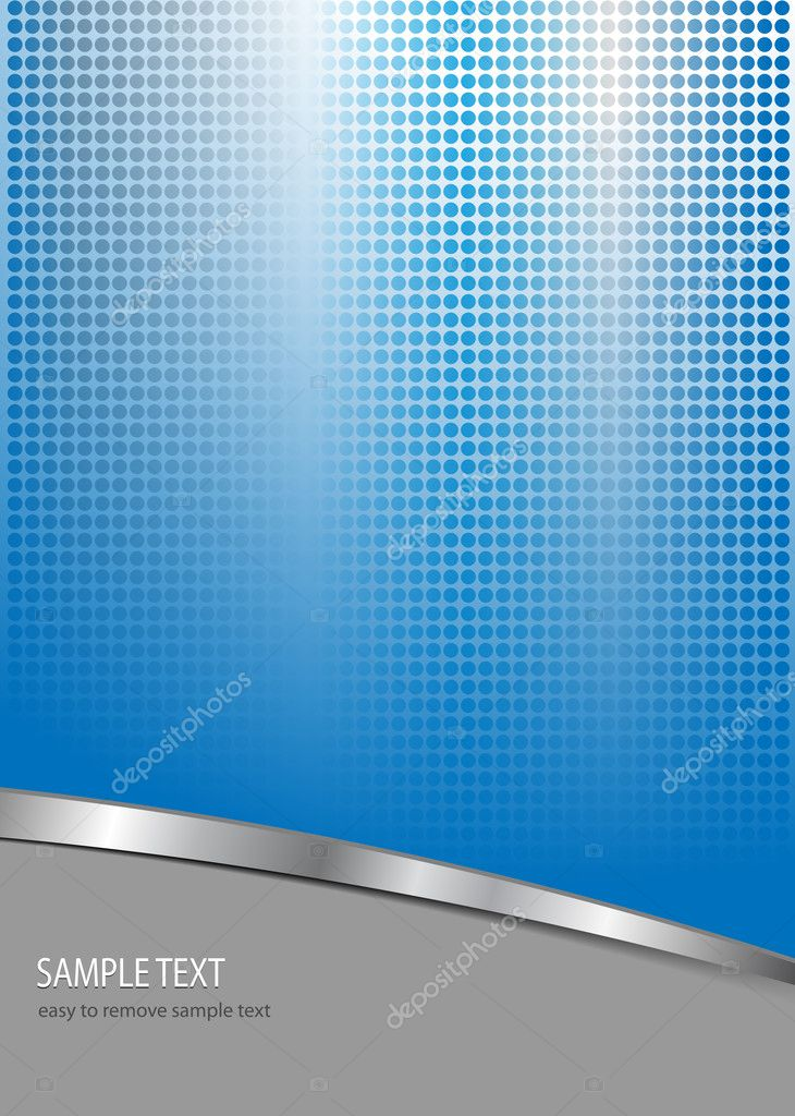 Business  background blue and grey with dotted pattern, vector. — Stock Vector #2881886