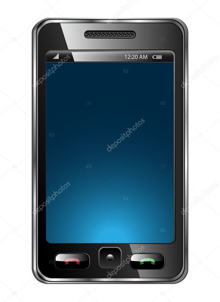 Mobile phone vector — Grafika wektorowa #3226827