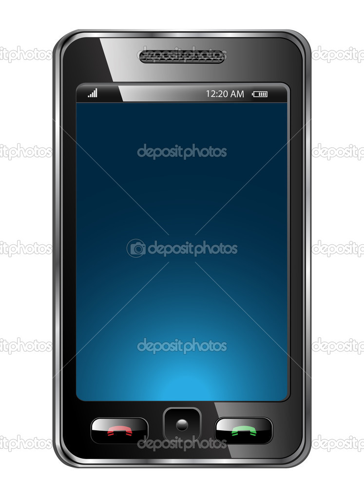 Mobile phone vector  Image vectorielle #3226827