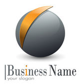 Logo 3D sphere — Stock Vector