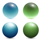 3D glass spheres — Stockvector