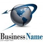 Logo globe, vector. — Stock Vector #3394761