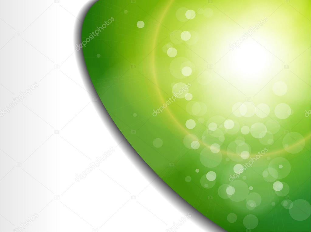抽象背景绿色光线模糊.矢量插画– 图库插图