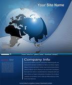 Business website template — Stock Vector