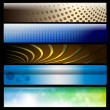Banners, headers — Stock Vector #3707035