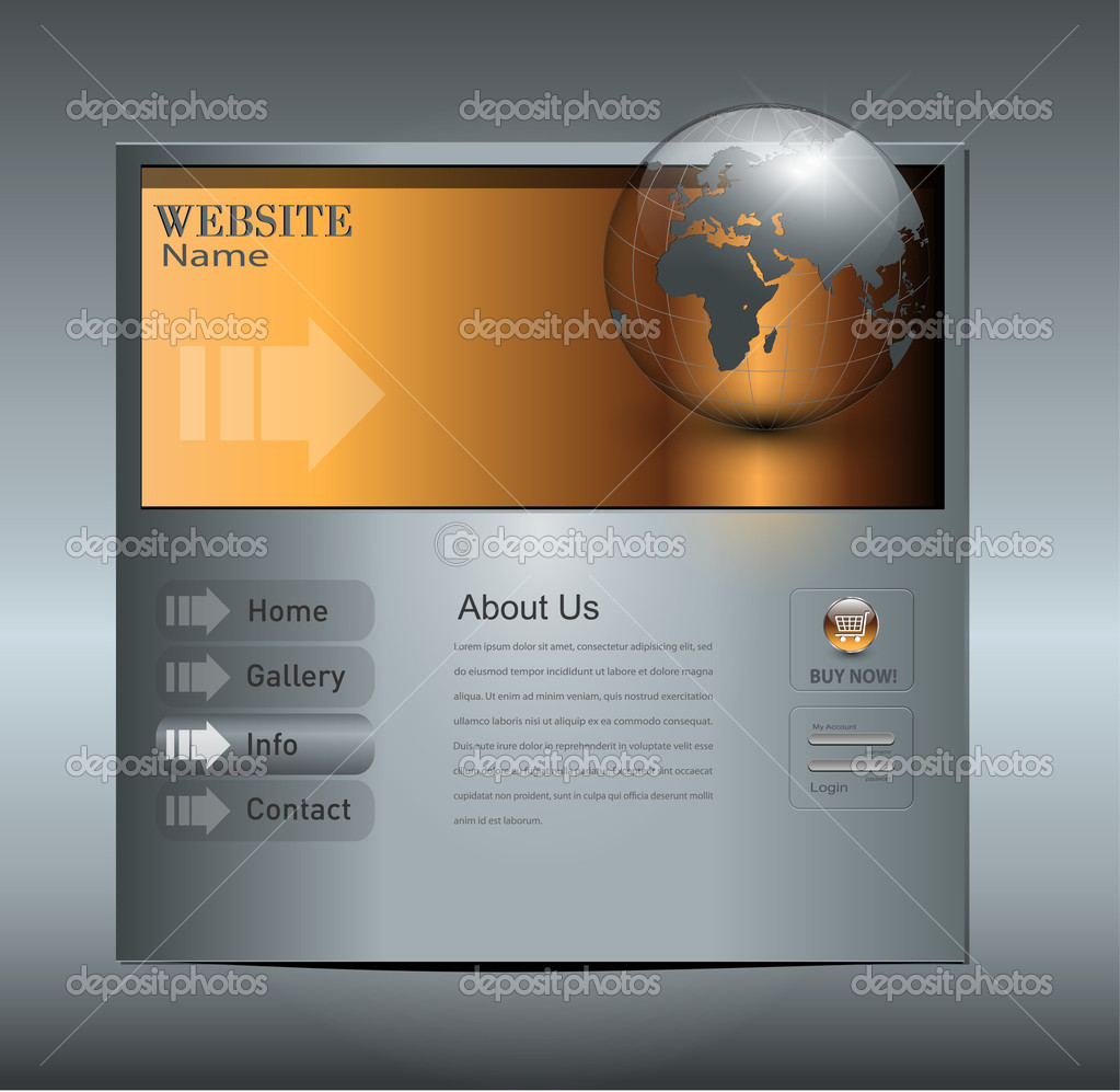 Business website template, editable vector. — Stock Vector #3701939