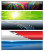 Banners, headers — Stock Vector