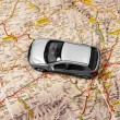 Stock Photo: Car on map