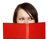 Woman with a book — Foto Stock