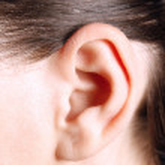 menselijk oor — Stockfoto
