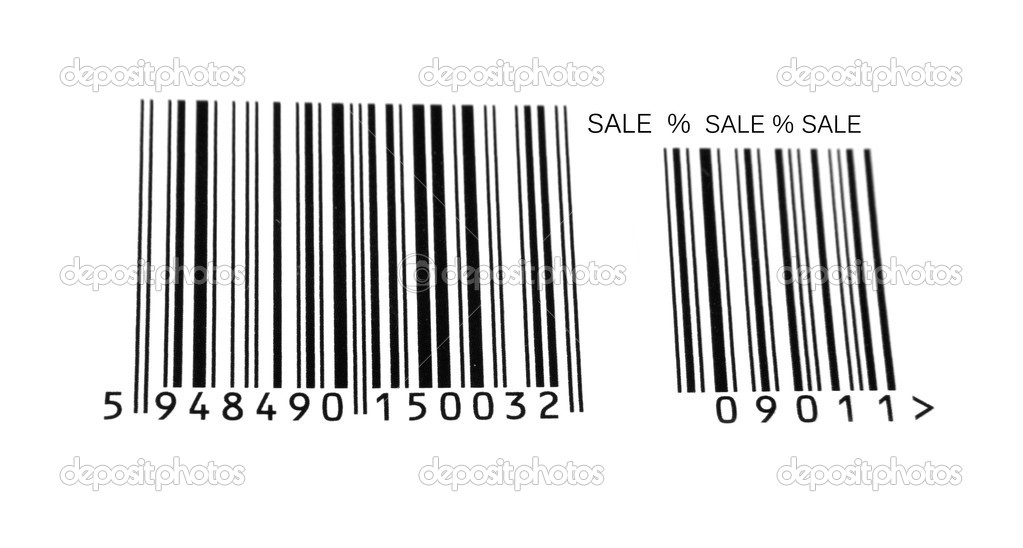 Black bar code and sale sign — Stock Photo #3099575