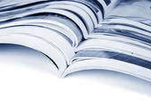 Pila de revistas — Foto de Stock