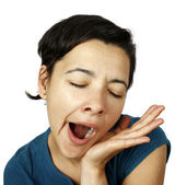 Woman yawning — Stock Photo