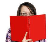 Donna con un libro — Foto Stock