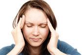 头疼的女人 — 图库照片