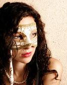 Woman wearing a mask — Stock Photo