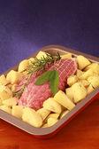 Roast with potatoes — Stock Photo