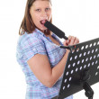 A singing woman — Stockfoto