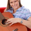 Royalty-Free Stock Photo: Beautiful girl playing guitar