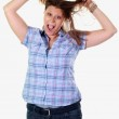 Frustrated woman — Stock Photo