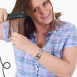 hair iron — Stock Photo