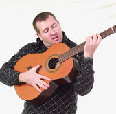 Man with classic guitar — Stock Photo