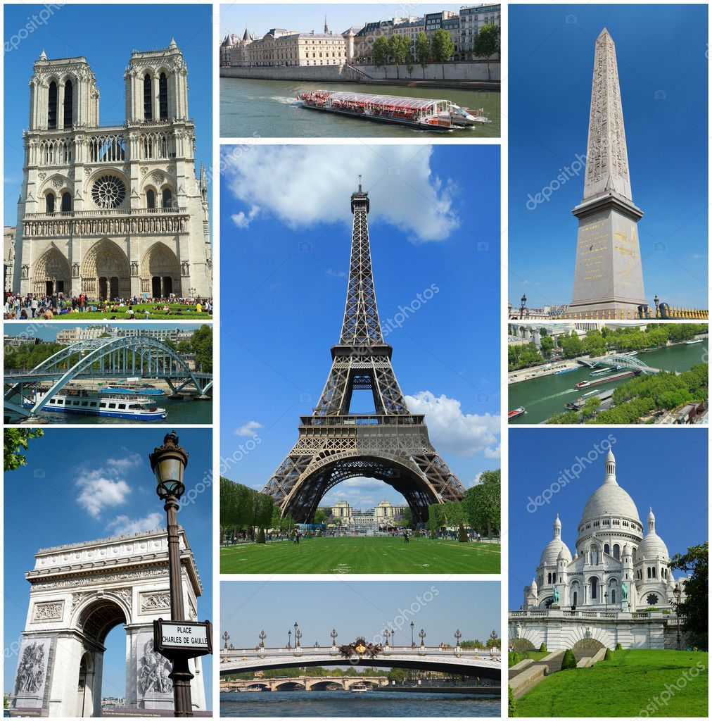 Collage of some picture of paris — Stock Photo #3252579
