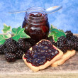 Stock Photo: Blackberries jam