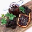 Blackberries jam — Stock Photo