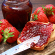 Stock Photo: Strawberries jam