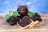 Blackberries jam — Stock Photo