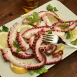 Stock Photo: Octopus salad