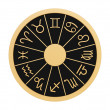Zodiac wheel - Stock Photo