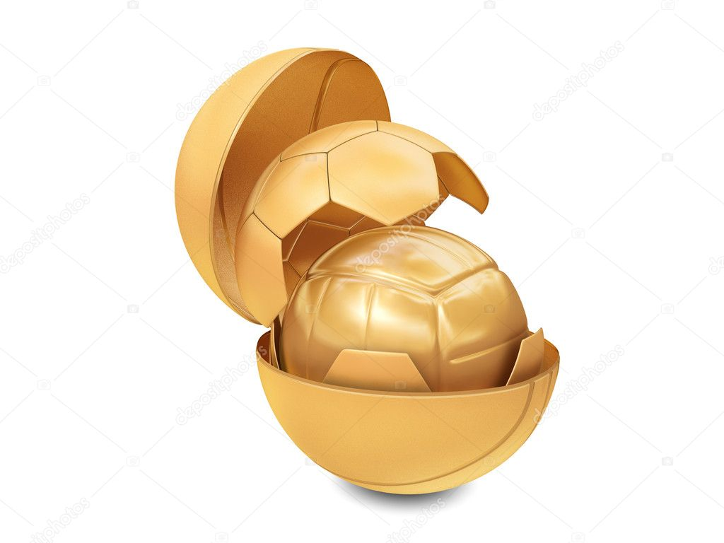 Three golden balls isolated on white background — Stock Photo #2993772