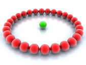 Green and red balls — Stock Photo