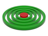 Rings chart green-red — Stock Photo