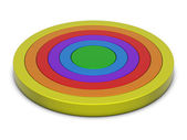 Rings chart multicolor — Stock Photo