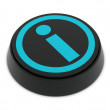 Info button black-blue — 图库照片