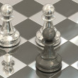 Chess pawns — Stock Photo